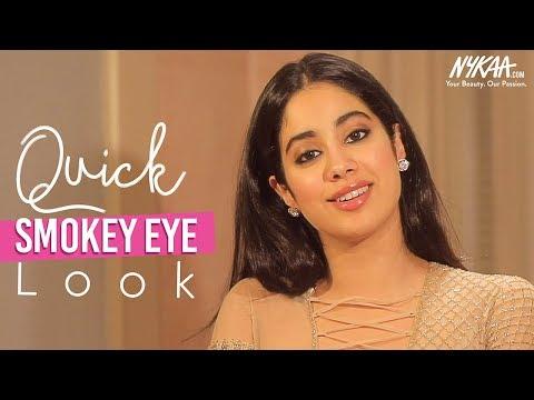 Get Ready With Janhvi Kapoor | Glam Smokey Eye Tutorial | Smudged-On-Purpose Makeup | Nykaa
