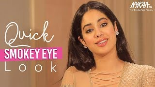 Get Ready With Janhvi Kapoor | Glam Smokey Eye Tutorial | Smudged-On-Purpose Makeup | Nykaa