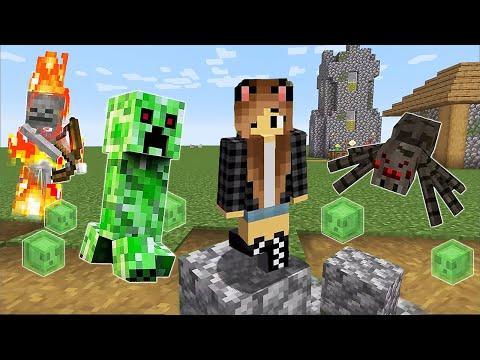 Обзор игры - Майнкрафт Выживание со Светой! Убегаем от крипера и слизней! – Видео .