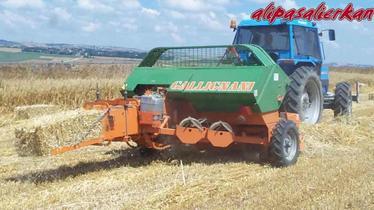 landini 8860 gallignani 5190 baling oats 2013 hd video yulaf rh youtube com