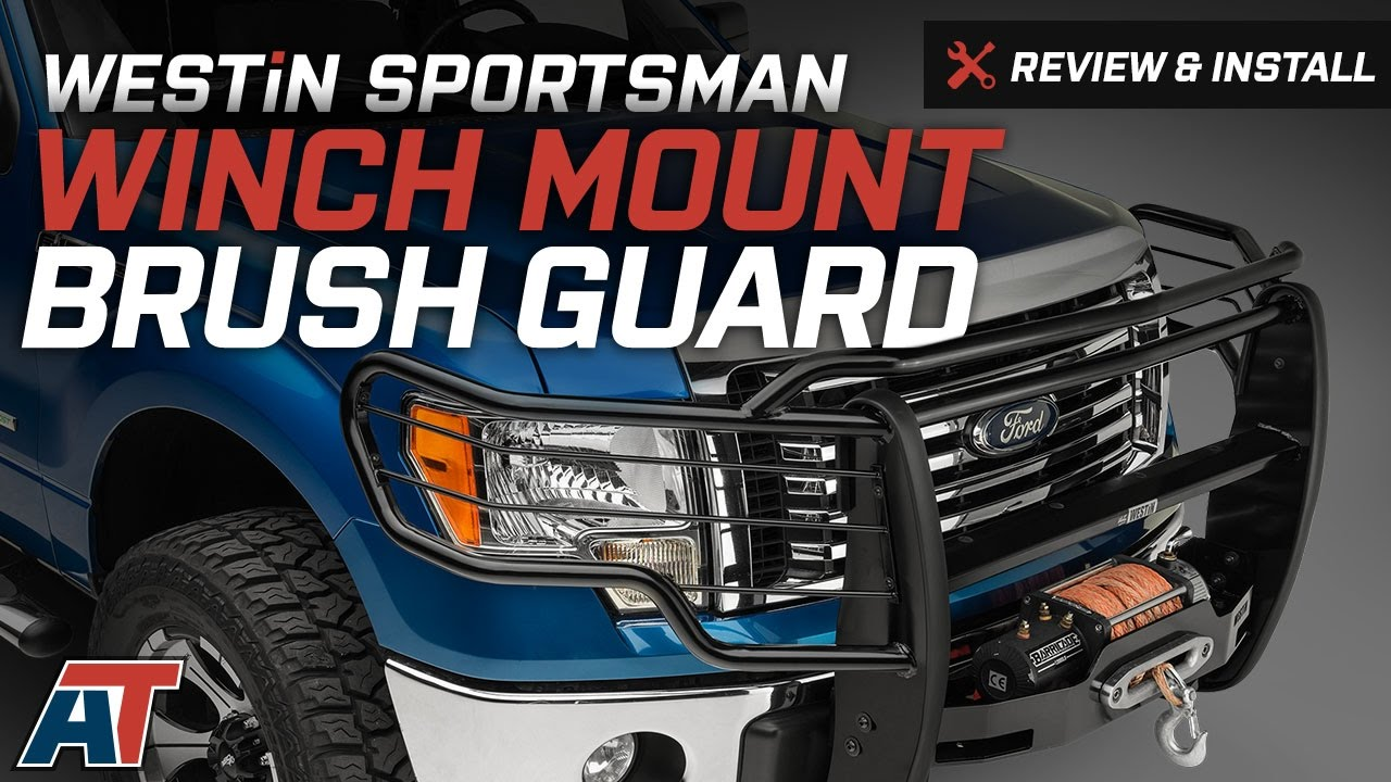Ford F150 Brush Guard >> 2009-2014 F150 Westin Sportsman Winch Mount Brush Guard Review & Install - YouTube