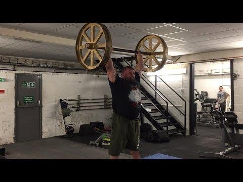 Eddie Hall 160kg x 3 Axle Press