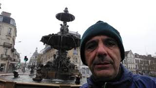 TROYES,FRANCE THE ARGENCE FOUNTAIN & RESISTANCE MEMORIAL TODAY LAWRENCE MAST