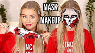 HALLOWEEN but make it MASK FRIENDLY? SKULL MAKEUP!