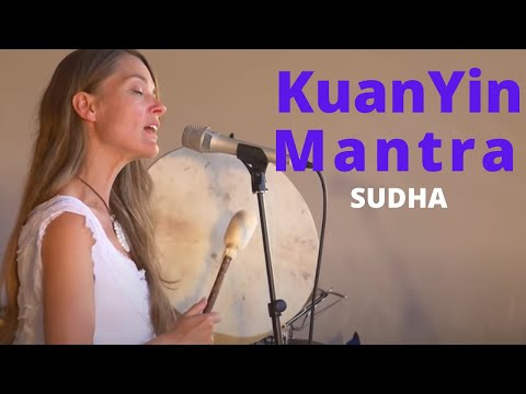 Sudha performing a mantra for Kuan Yin, the bodhisatva of compassion
