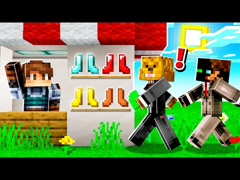 OPENING the FIRST SHOP in Camp Minecraft!
