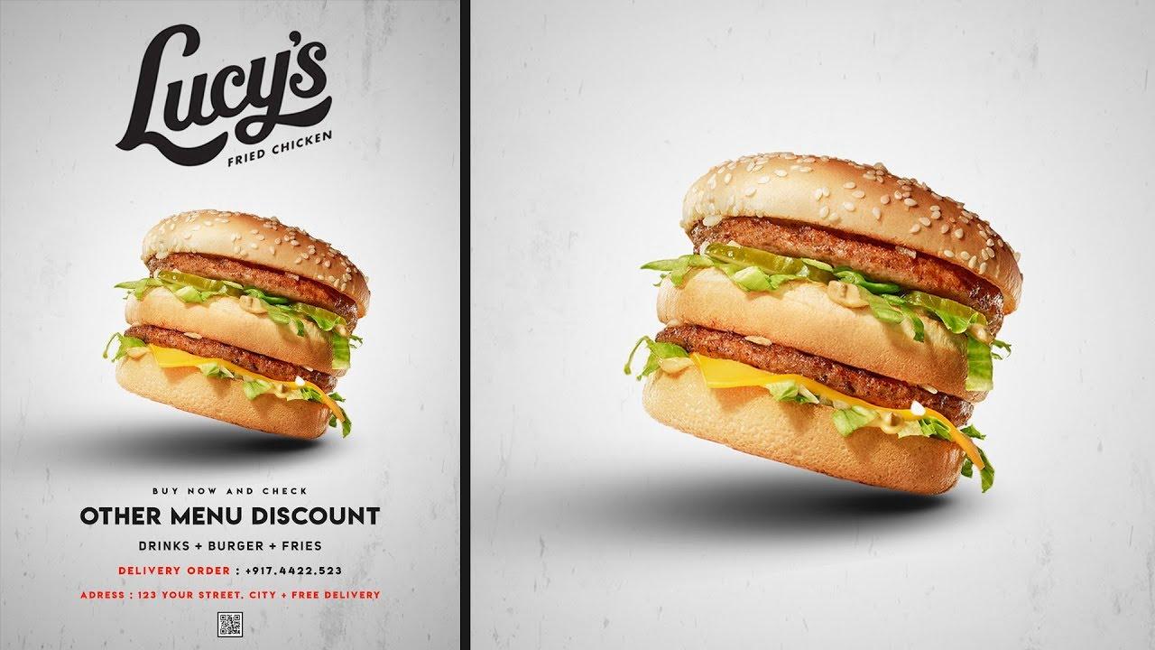 Professional Advertising Burger Poster Design | Photoshop Tutorial