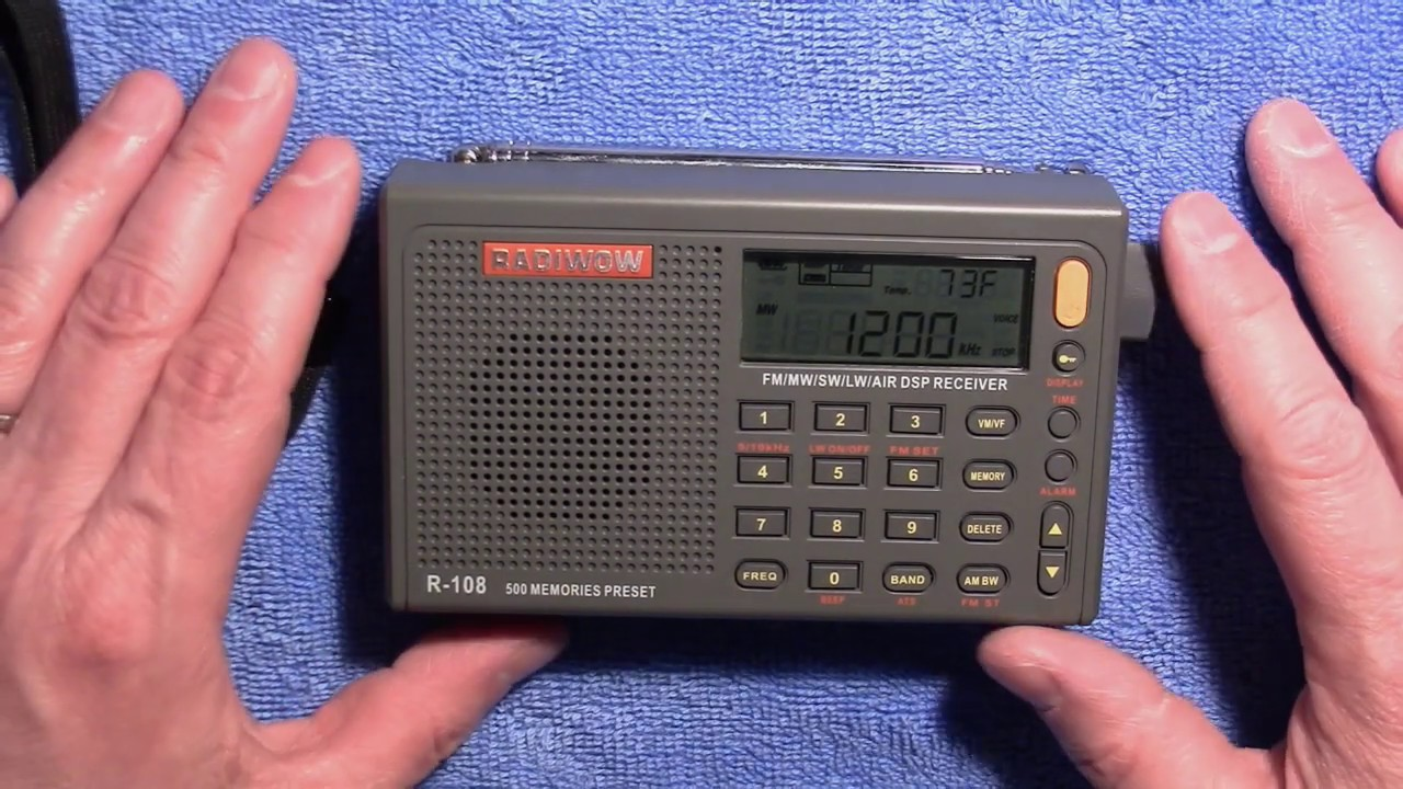 Radiwow R108 AM FM SW LW Airband Radio Review - Aviation and Airports