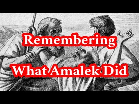 Remembering What Amalek Did in the Way