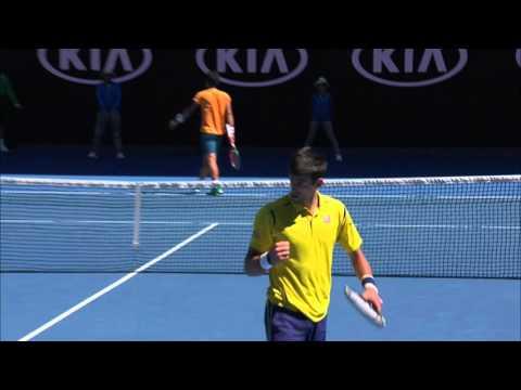 Novak Djokovic v Hyeon Chung highlights (1R) Australian Open 2016