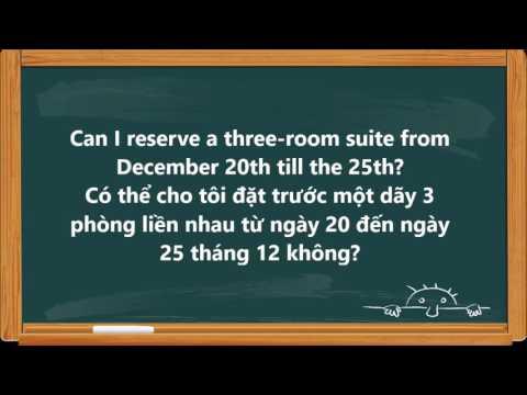 Đặt phòng khách sạn bằng tiếng anh   Các câu tiếng Anh khi đặt phòng khách sạn