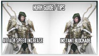 [Vindictus] Hurk Guide/Tips - Attack Speed increase, Instant Blockade