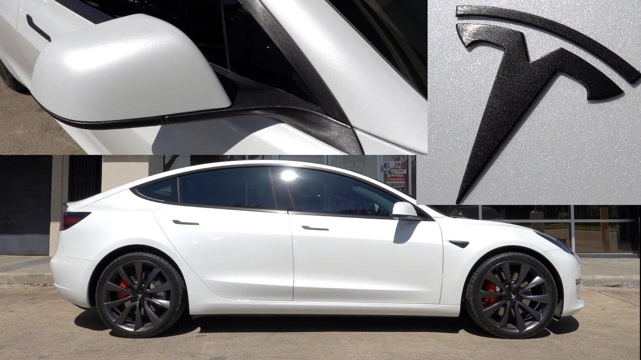 Tesla Model 3 Brushed Black Chrome Delete! | EVS Vlog ...