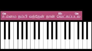 Ummai Nambi Vanthen Keyboard Chords and Lyrics - Gm Chord