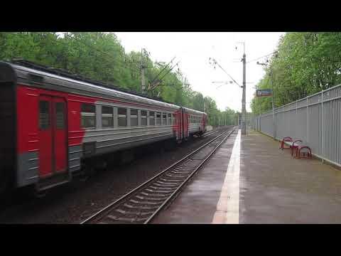 Электропоезд ЭД4М-0013/ЭД4МК-0085 платформа Переделкино 8.05.2019