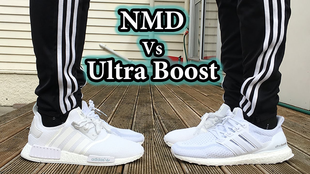 a5da8bde6b4 Triple White Comparison - NMD vs Ultra Boost