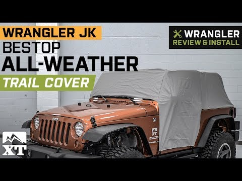 8b960c66085 Bestop Jeep Wrangler All-Weather Trail Cover - Gray 81040-09 (07-18 Jeep  Wrangler JK 2 Door)