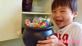 アメちゃん食べたら…スケルトン!!? 公園で遊ぼ! おゆうぎ こうくんねみちゃん eat the candy became skeleton video for kids