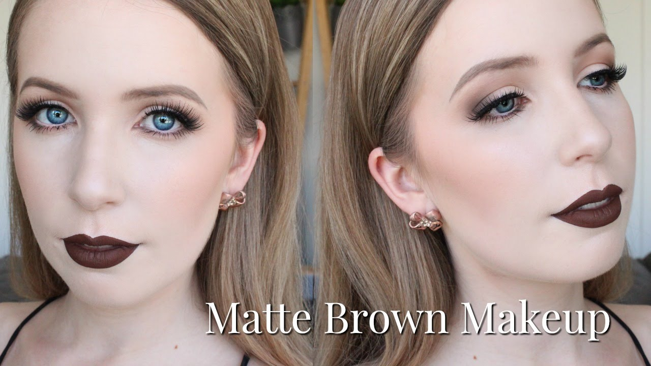 Chocolate Brown Makeup For Very Pale Skin Easter