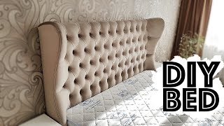 BED with soft headboard DIY FURNITURE