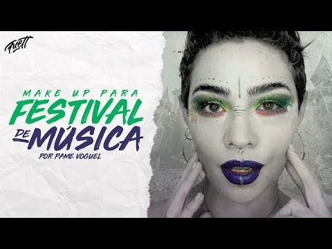 MAKE UP PARA FESTIVAL DE MÚSICA  POR PAME VOGUEL