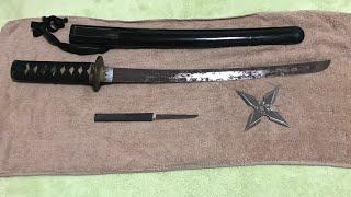 日本刀?いや脇差し。江戸時代の本物の刀が蔵からでてきた!ムラマサ?    うえしん