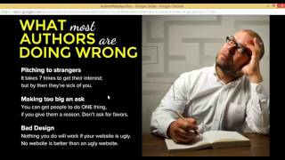 Common mistakes authors make with their website