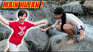 MAIN HUJAN & MAIN AIR DI TEPI SUNGAI !! Vlog Lucu | CnX Adventurers