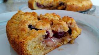 Это нереально вкусно , сочный пирог из вишни . ** Гилосдан жудаям маззалик пирог