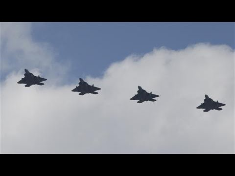 U.S. Stealth Fighters Fly Over South Korea