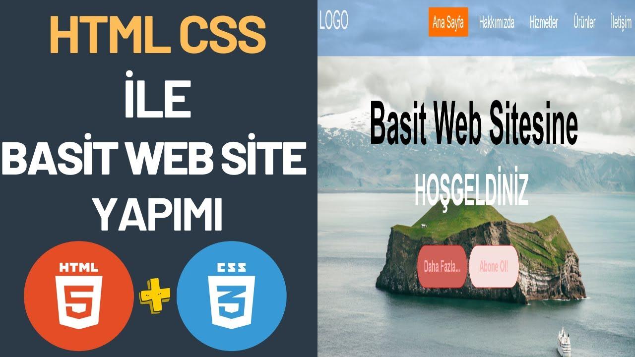 Html ile web Sitesi Yapımı En Kolay Anlatım