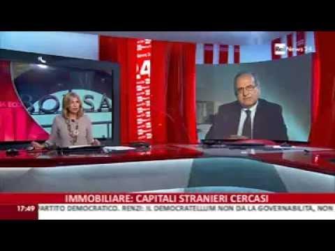 Prelios - Massimo Caputi interviene a Rai News 24 dall'EIRE di Milano