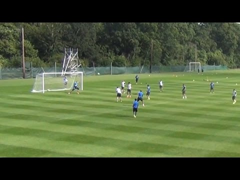 HENRY'S PERFECT VOLLEY: KARL HENRY'S BRILLIANT TRAINING GROUND GOAL