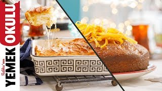 Portakallı Islak Kek ve Yufkadan Kolay Börek Tarifi