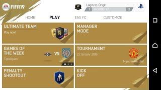 FIFA 19 Gold Edition Android | Fix Tournament Mode