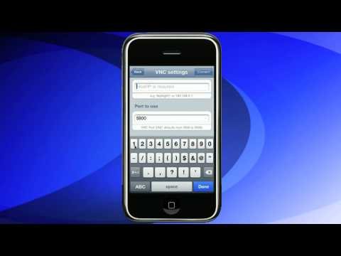 VNC IPhone VNC Pocket Office Tutorial Connecting