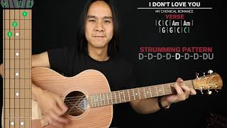 I Don't Love You Acoustic Guitar Cover My Chemical Romance 🎸|Tabs + Chords|
