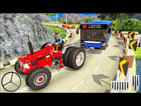Offroad Towing Chained Tractor Bus 2019 - Tow Truck Rescue Simulator - Android Gameplay FHD - 동영상