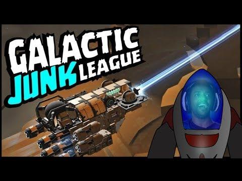 Galactic Junk League: Criei Minha Nave & Ela funciona Game de Nave na Steam! Omega Play