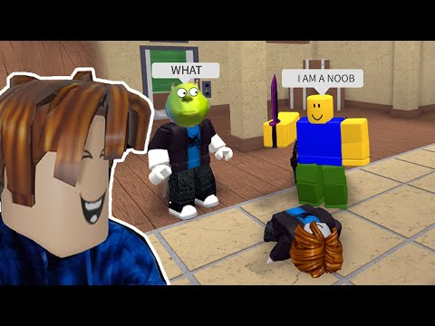 Roblox Murder Mystery 2 Funny MEME Moments (NOOB NEEDS HELP)