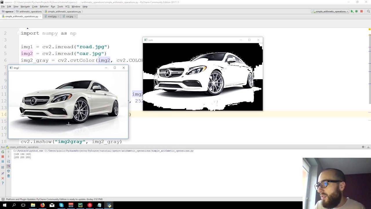 Add images and Threshold - OpenCV 3 4 with python 3 Tutorial 5