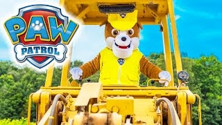 Paw Patrol Rubble and the Assistant Works on His Digger a Funny  Family Video
