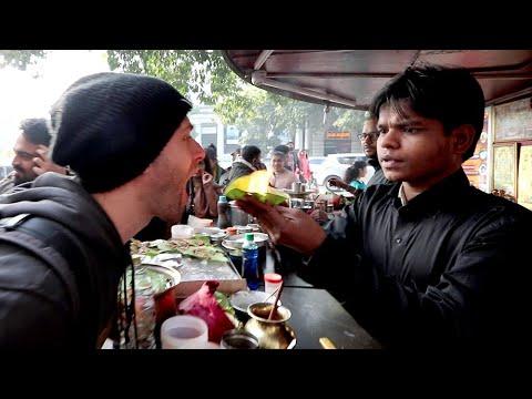 American Tries INDIAN STREET FOOD in Chandni Chowk | Delhi, India