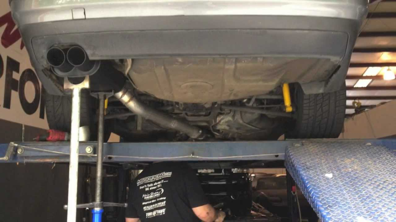& M3 swap 3 inch header back exhaust - YouTube