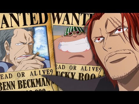 Red Hair Pirates Bounties In One Piece Shanks Crew Bounties