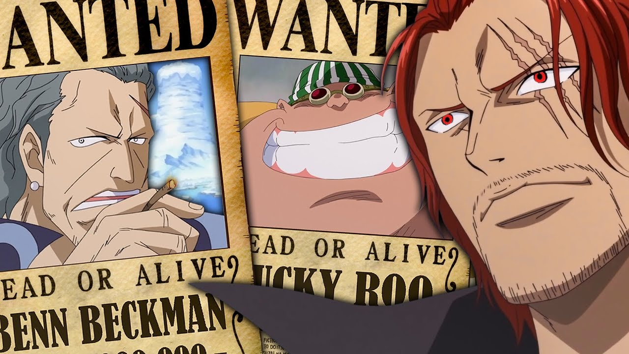 Red Hair Pirates Bounties In One Piece (Shanks Crew ...  One