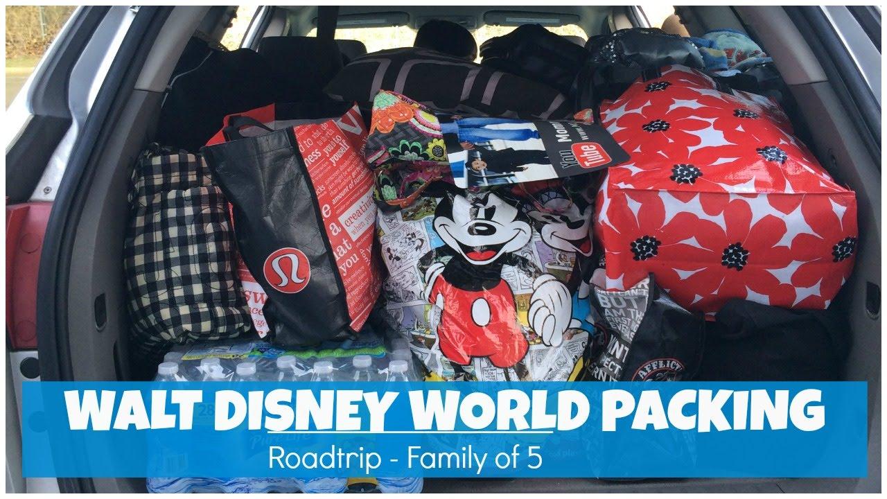 Walt Disney World Vacation Packing Roadtrip Nj To Fl