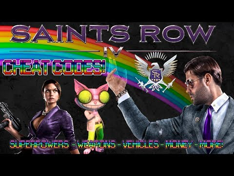 Saints Row IV (PC-XBOX 360-PS3) CHEAT CODES