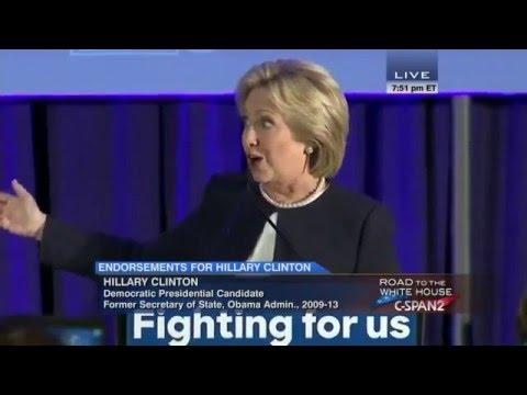 Women For Hillary Campaign Endorsement Announcement