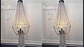 Chandelier DIY - Dupe, using Dollar Tree Wire Basket